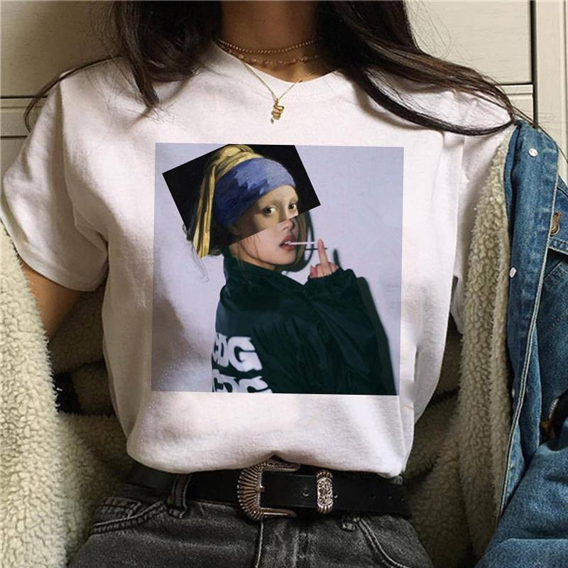 Nouveau T-shirt grunge esthétique femmes drôle coréenne style T-shirt Harajuku 90 Ullzang graphique Cartoon T-shirt Fashion Top Tee