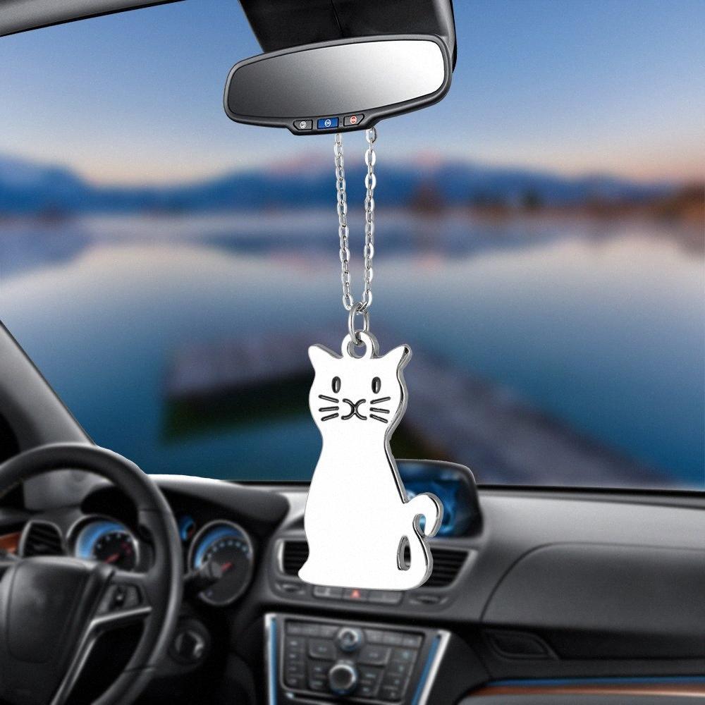 Charms Moda Cat Kitty carro ornamentos Pingente Espelho Retrovisor Decoração Hanging presentes Auto Decor Carros Acessórios Styling Hot VfQz #