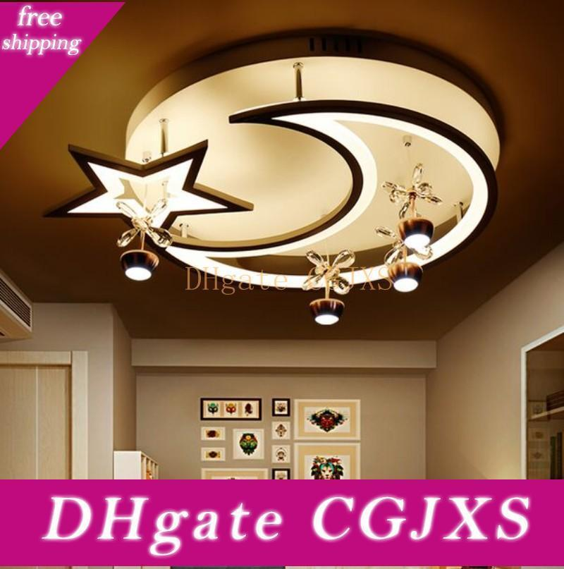 Новый дизайн Акриловые Современные светодиодные потолочные светильники Moonstar Форма для гостиной Studyroom Спальня Лампе Plafond Домашнее украшение Luminaire Myy