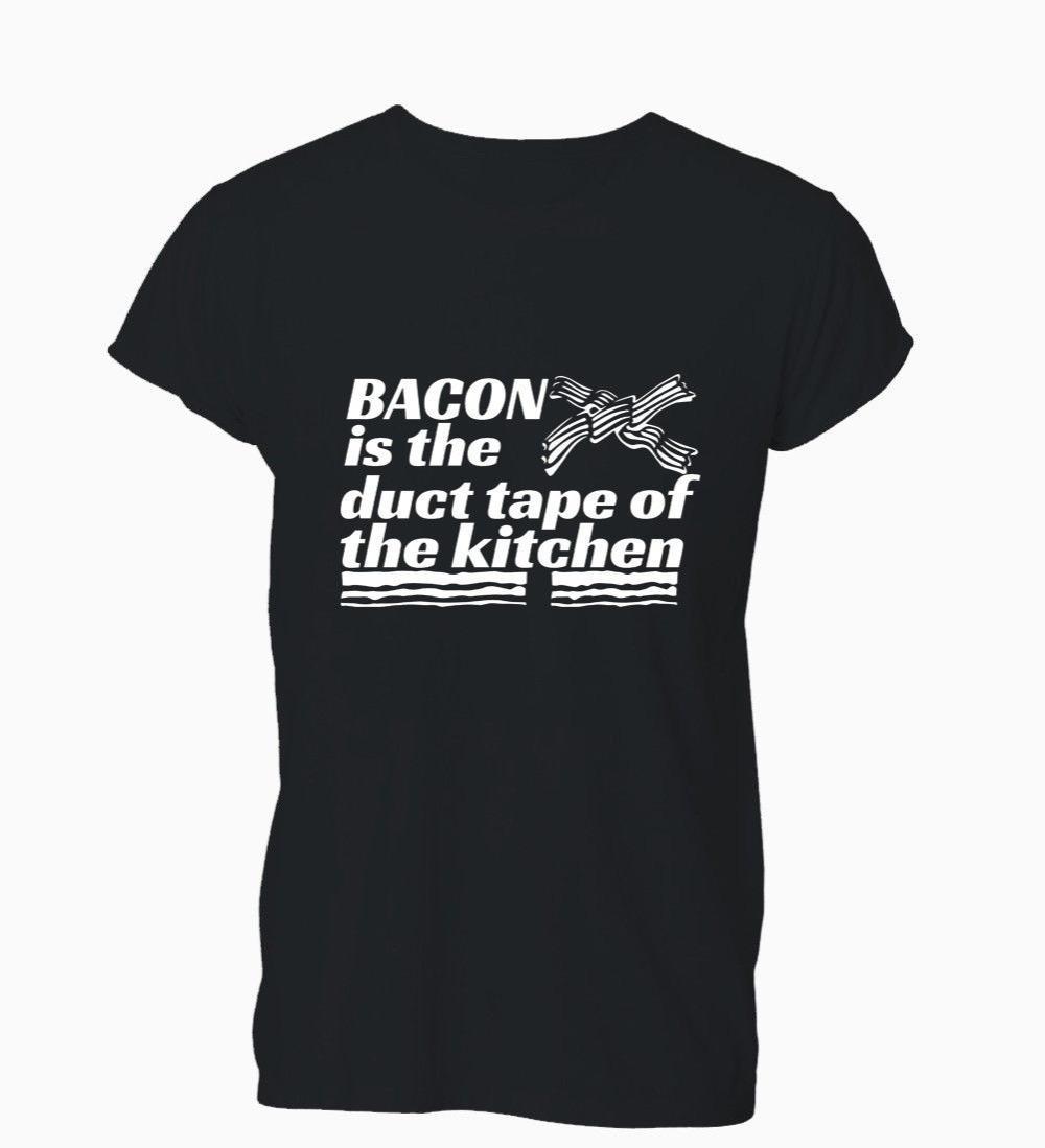 Mutfak Komik Tişört Tişört Mens Of 2019 Yeni Ucuz Satılık Bacon Is Duct Tape
