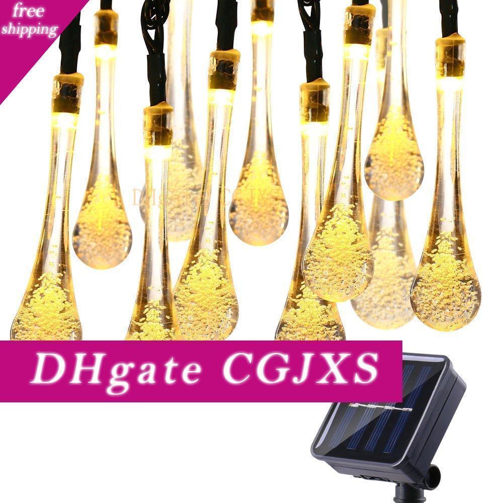 Haoxin Solar Powered luci della stringa 200 LED impermeabilizzano i 8 modi di goccia dell'acqua Fata String Lampade da esterni Garden Holiday partito Luci