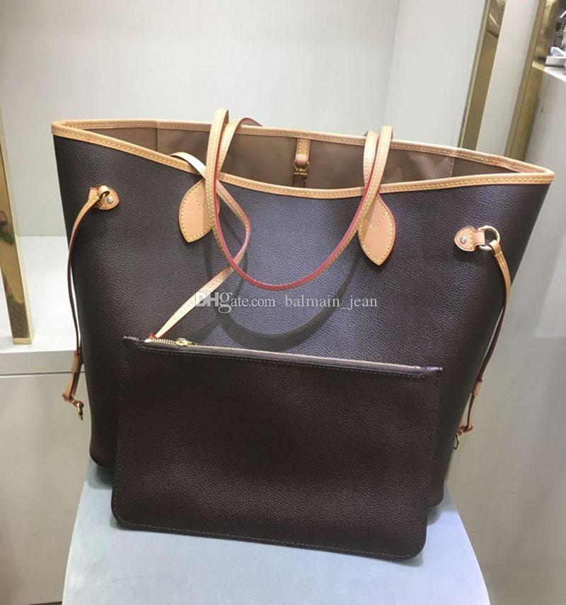 Venta caliente Stamping Never Design Bags Bags Tote de alta calidad Debe bolsos Bolsos Hombro de cuero Moda Compras Classic Cowhide Bag 40990 4 FFJR