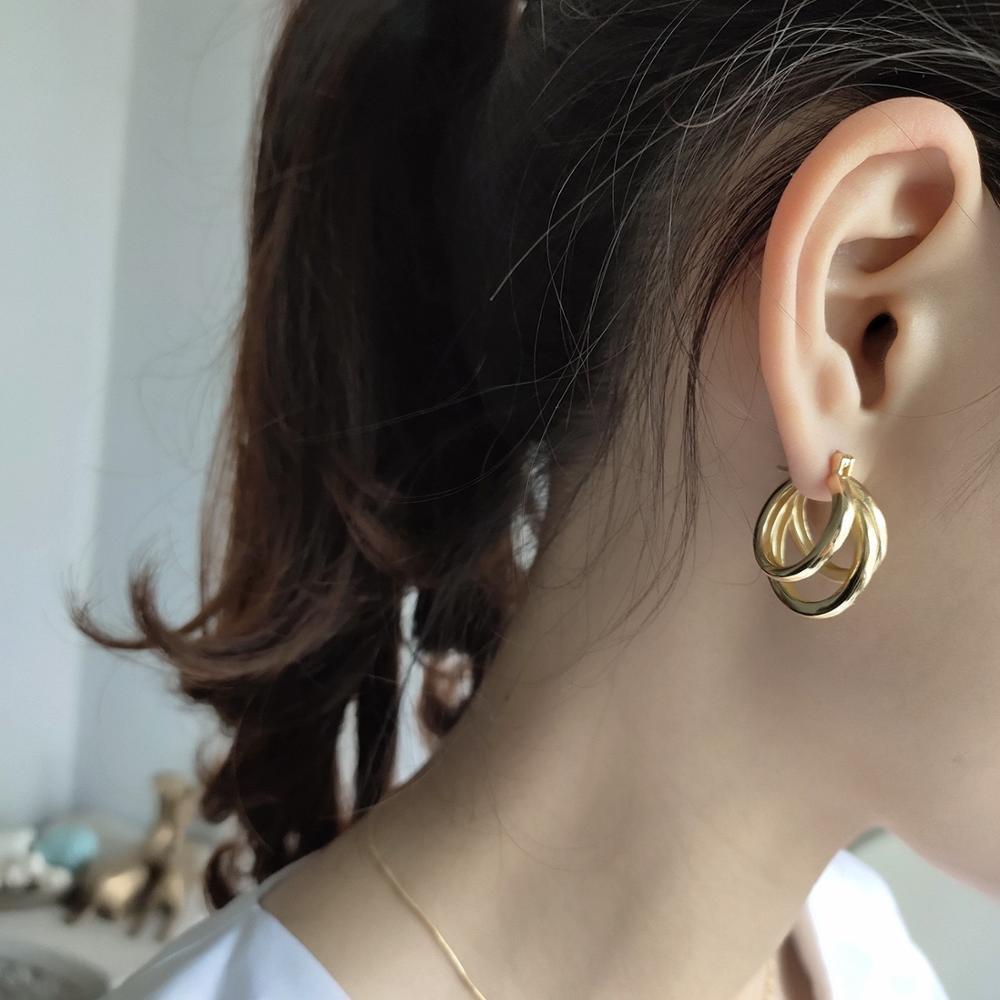 100% reines Silber 925 reines Gold Ohrringe, die koreanische Version des Temperaments Ohrringe, für Frauen Hochzeit edlen Schmuck Geschenke