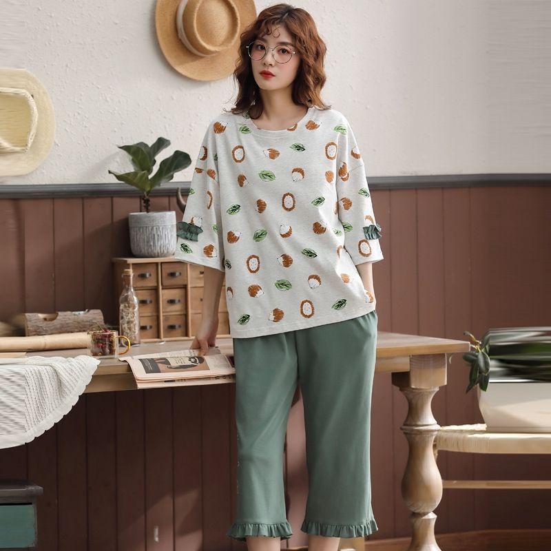 poiaS My1s6 casal pijamas fornecendo verão roupas estilo Cotton Moda coreana casuais fina casa roupas roupa ao ar livre casa das mulheres dos homens