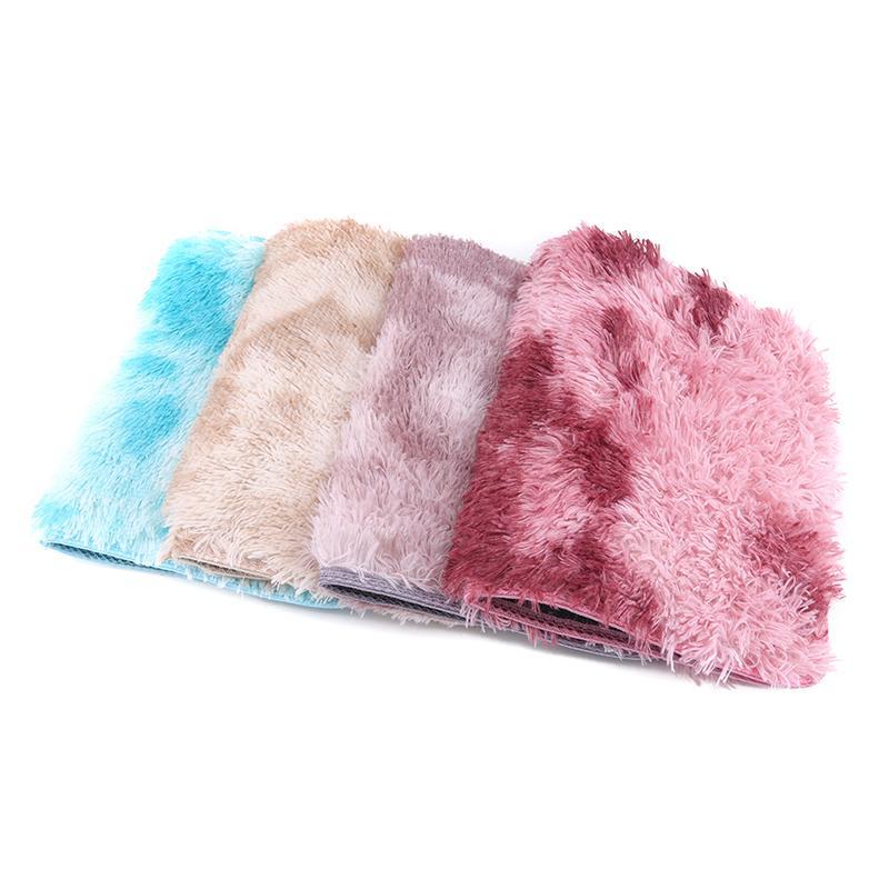 Tapetes tapete tapete-tintura pelúcia quarto macio sala de estar antiderrapante tapete absorvente