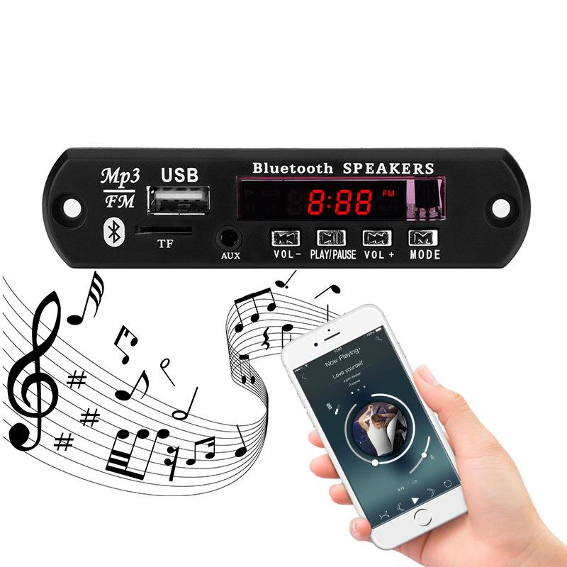 MP3 Bluetooth Car Audio módulo decodificador receptor USB 3.5 mm AUX Junta Decodificadores 12V TF FM reproductor de música MP3 WMA 5V