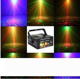 De alta qualidade Remoto 5 Lens 80 Padrões de LED AZUL RG Laser Iluminação Cénica DJ Mostrar Green Light Red Home Profissional Luz 110-220V
