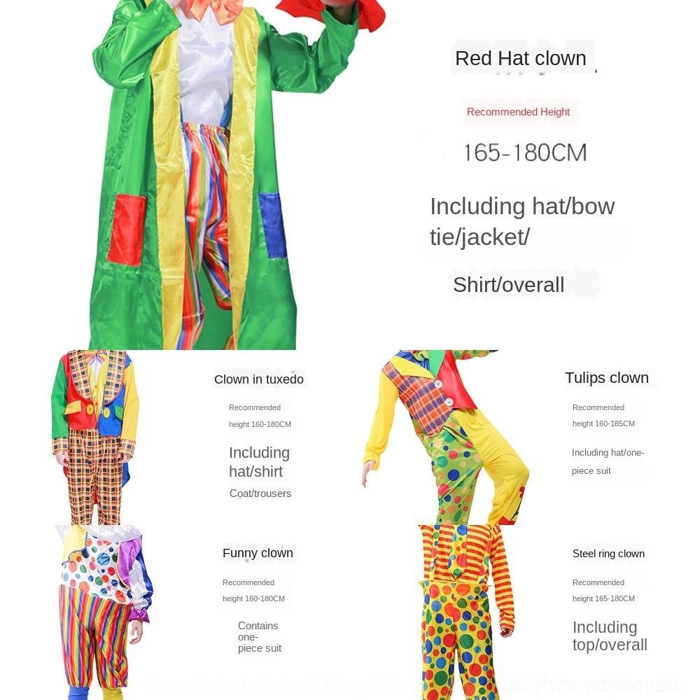 uJx3Z YAbWS de adultos prendas de vestir y WO vestido de payaso de circo de Halloween ropa adulta del traje del traje de los hombres y las mujeres espectáculo de circo de Halloween