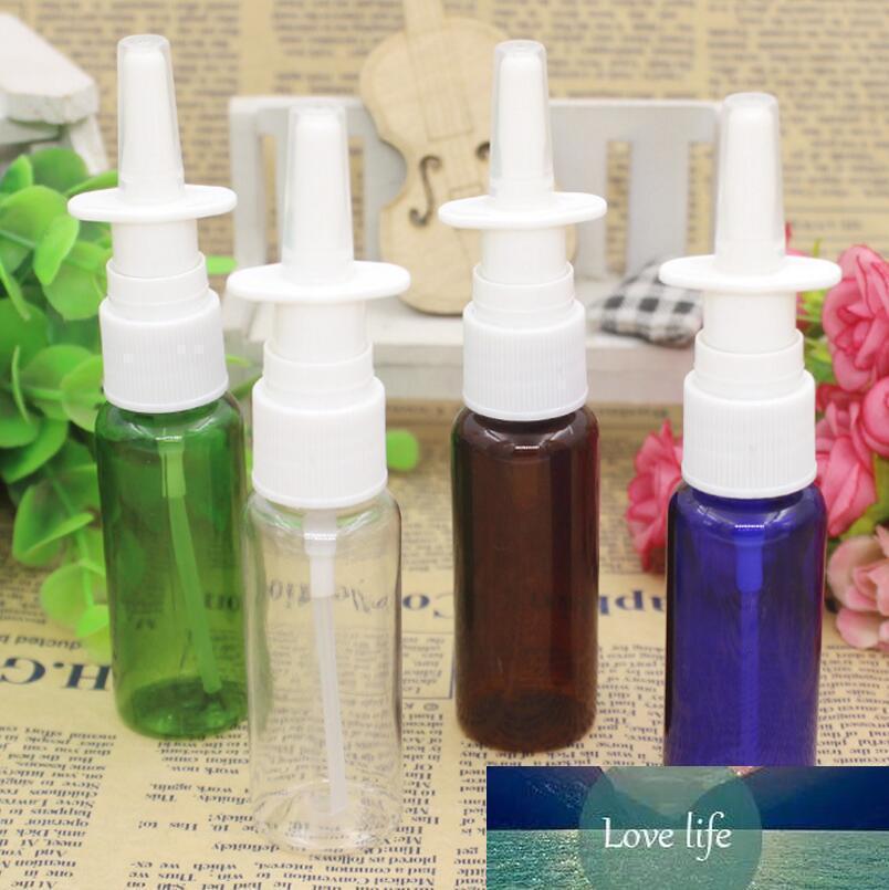 1000pcs 20 ml botella vacía de aerosol de colores con recta aerosol nasal, 20ml botellas de medicina líquida plástica