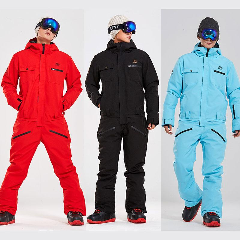 Erkekler Kadınlar Kış Windproof Su geçirmez Sıcak Kayak Suit Erkek Kadın Kayak Ve Snowboard Kar Jacket + Pantolon için Kayak Jumpsuit