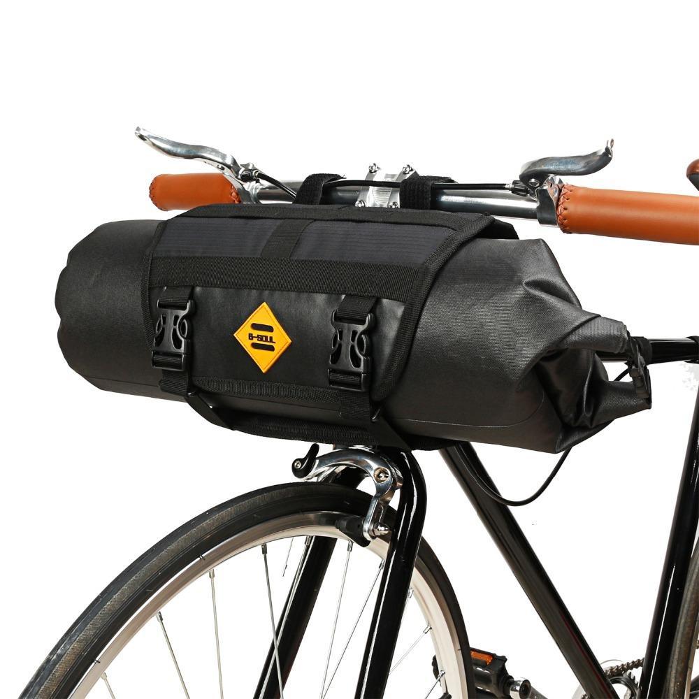 Tubo B-SOUL Frente bicicleta saco impermeável guidão de bicicleta Basket Pacote Frente Ciclismo Quadro Pannier accories bicicleta