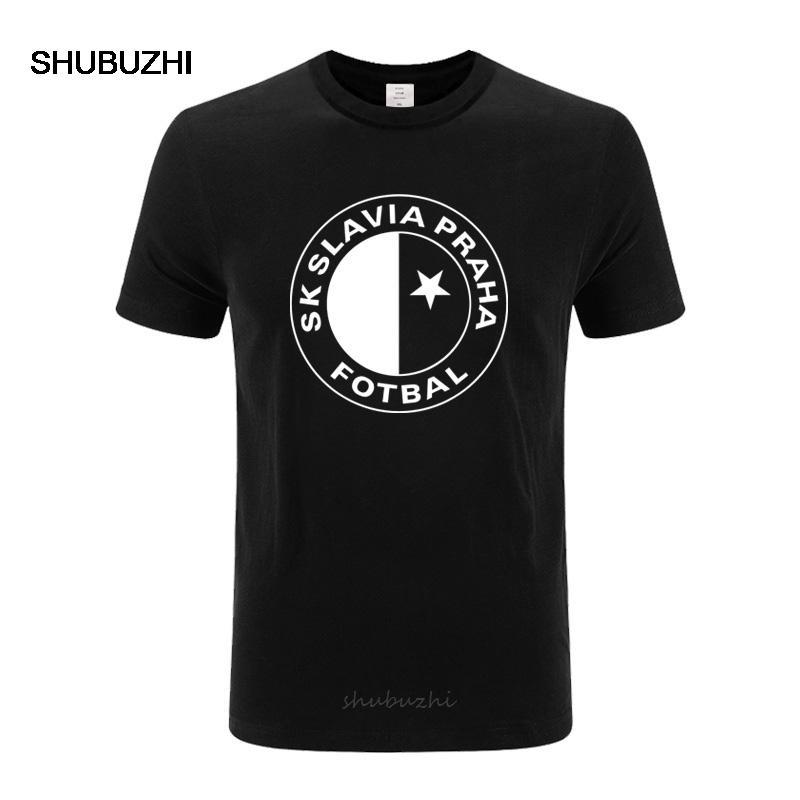 Sk Slavia Praha maglietta Repubblica Ceca Praga stampa maglietta maglietta degli uomini della maglietta del cotone di qualità per gli uomini più formato XS-3XL