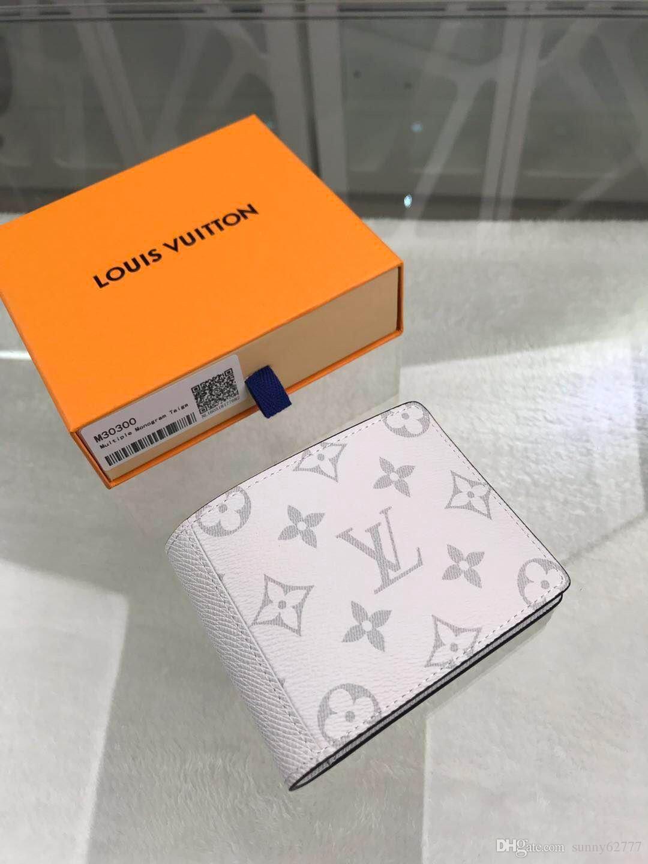 melhor qualidade de carta homens couro genuíno curto carteira com caixa Tote Bolsa titulares de cartão de chave clássica mulheres da carteira da moeda M30300 11.5..9.0..1.5cm