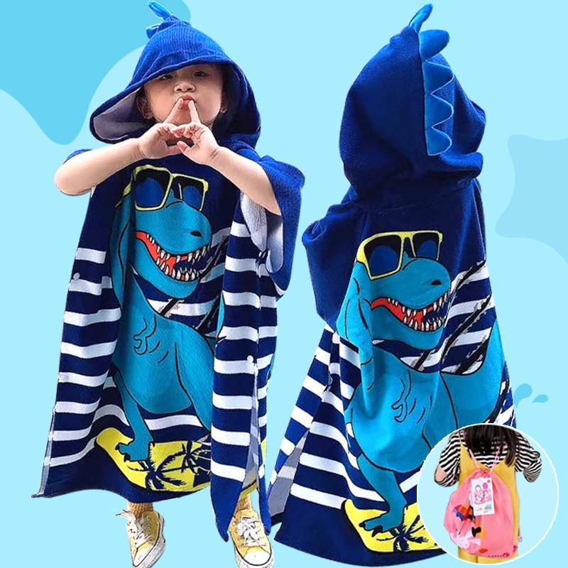 Mignon enfants Cartoon Serviettes de Bain Garçons Filles Gros capuche Cape Serviette de plage Beach Blanket Piscine de bain Douche Peignoir Top des vêtements de qualité INS
