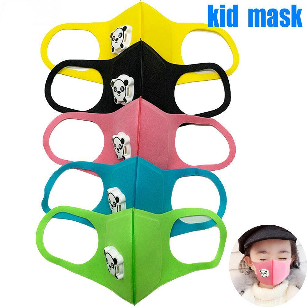 어린 아이 스폰지 다채로운 마스크 디자이너 얼굴이 빨 재사용 브리더 밸브 PM2.5 블랙 Mascarillas 보호 마스크 8시간에서 배송