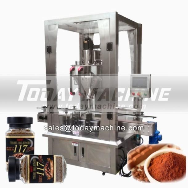 Gute Präzision Flasche Sandkapselung Verpackungsmaschine Linie für Milch-Protein-Pulver