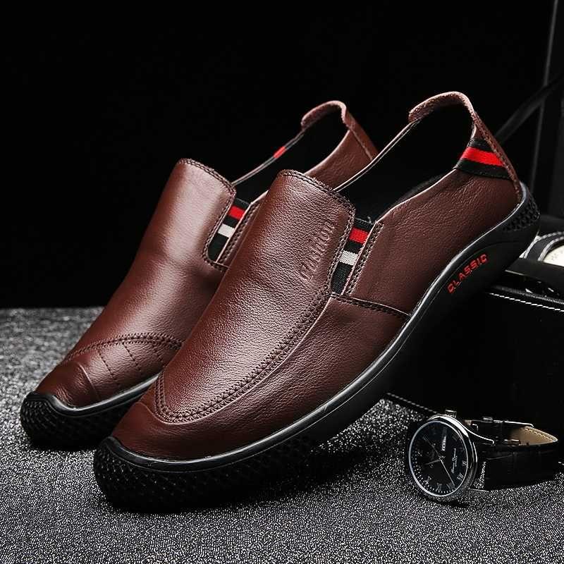 Горячая Продажа Мокасины Обувь мужская из натуральной кожи Приводной обуви мужчин черного Мужская обувь ручных Мокасины Удобные повседневные кроссовки