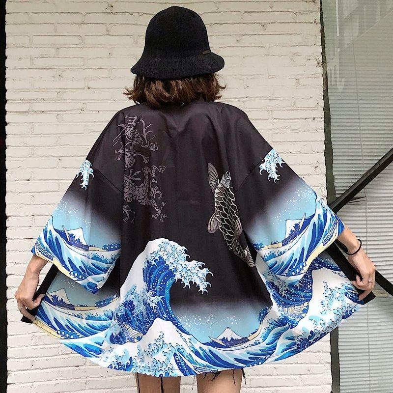 Delle donne top e camicette 2020 Harajuku kawaii camicia giapponese streetwear abito kimono cardigan femminile yukata le donne camicia LJ200831
