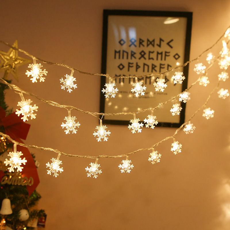 20LED 3M Snowflake String Fairy Lights Christmas Tree Wedding Home Party Decor