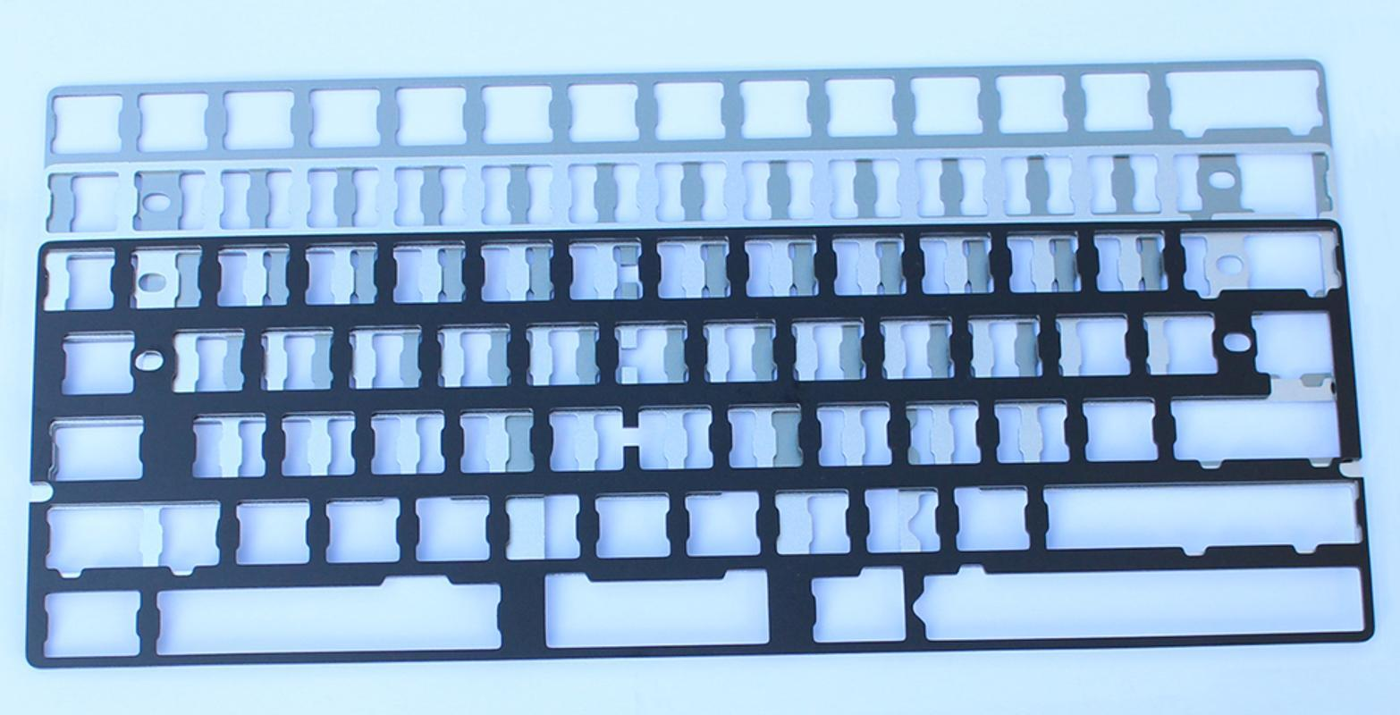 Aluminum Plates Support GH60 Poker XD60 XD64 CNC Anodized Plate add Arrow Keys for MX Switches of 60% Mechanical Keyboards