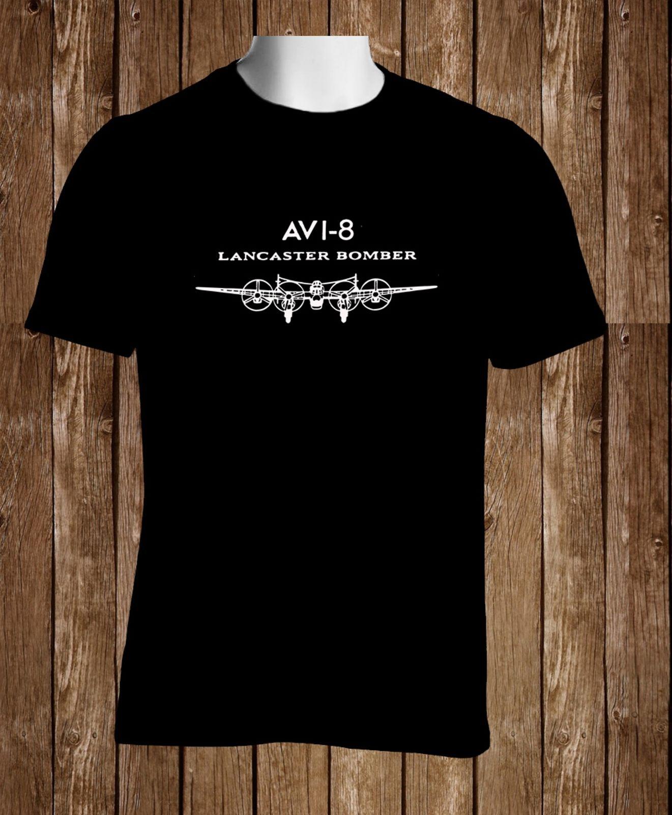 2020 Fashion Summer Style Black T-Shirt Avi 8 Lancaster Bomber Watches Men's Tshirt S To 5xl Tee Shirt