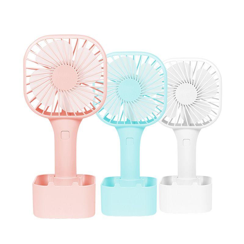 Mini Desk Fan Portable Mobile Holder Fans Handheld Outdoor USB Fan Air Cooler Small Desktop Office Tripod Fan Rechargeable