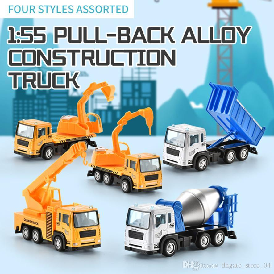 Kinder LKW-Modell Mini-Legierung Technik LKW Spielzeug Dump Spur Modell Kid Geschenk 3 in 1