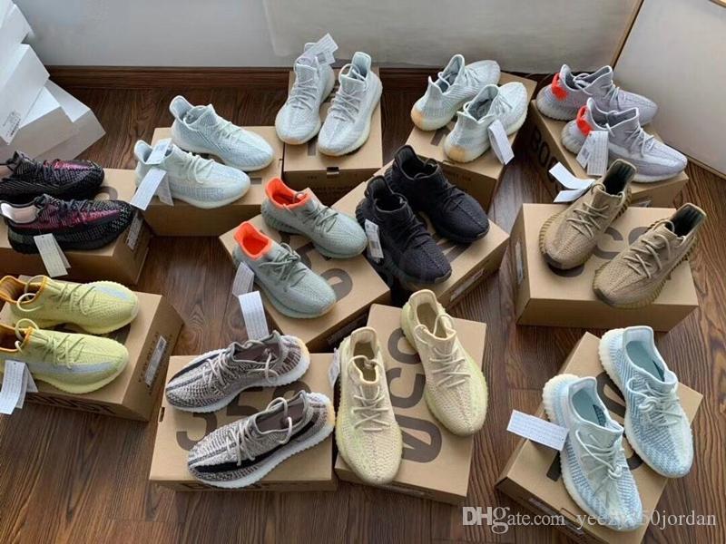 Con la caja de Kanye West yezzyyezzysV2 arcilla 350Israfil zyon ceniza sabio del desierto yecheil estáticas hombres reflexivos zapatillas deportivas 146840