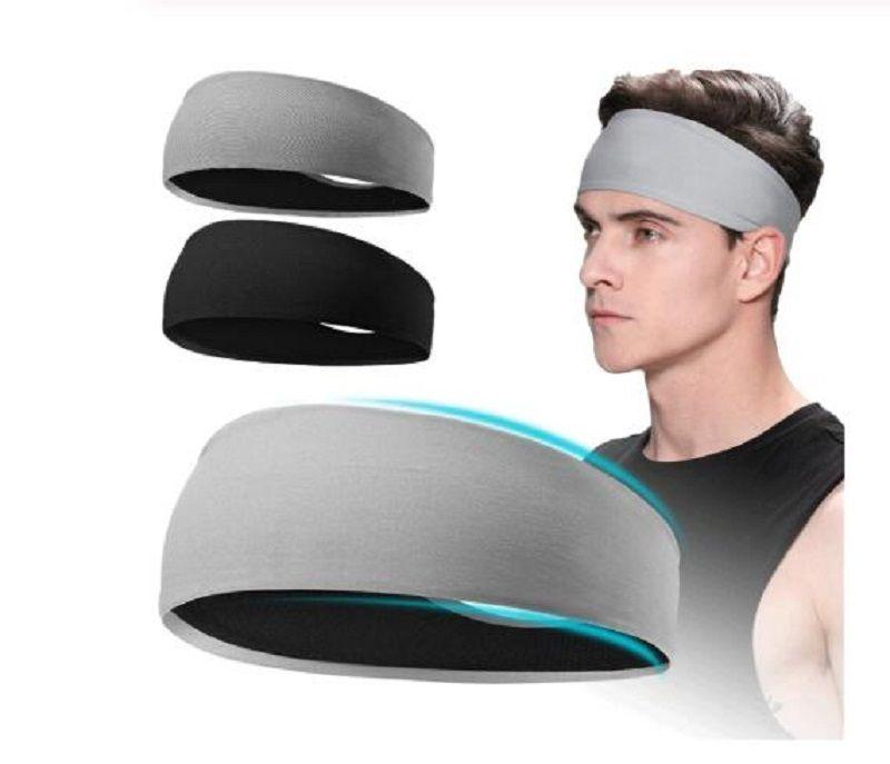 Sweatband pour Hommes Femmes élastique Sport Bandeaux Head Band Yoga Bandeaux Couvre-chef Headwrap sport Accessoires cheveux bande de sécurité