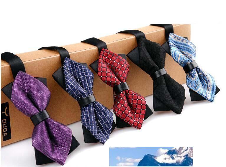 Cravatte a farfalla nuovi uomini di modo di arrivo dell'annata maschio di colore misto di nozze Bowties uomo Cravatte Cravatte da uomo Molti Stile abbigliamento Bowtie Sposo Bowtie R17
