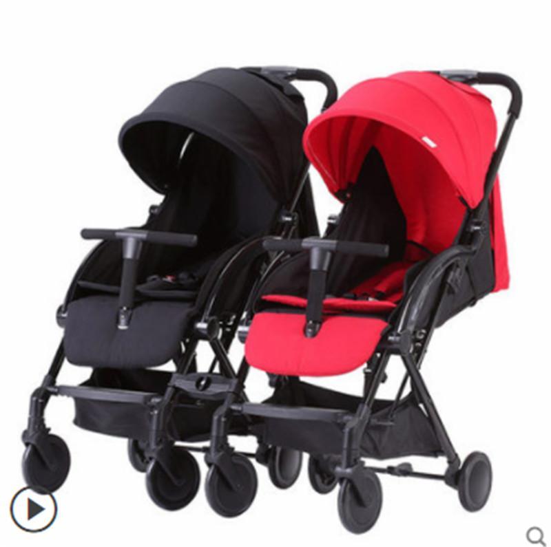 Europea passeggino gemelli bambino ultra leggero portatile può sedere reclinabili pieghevole drago e fenice bambino passeggino