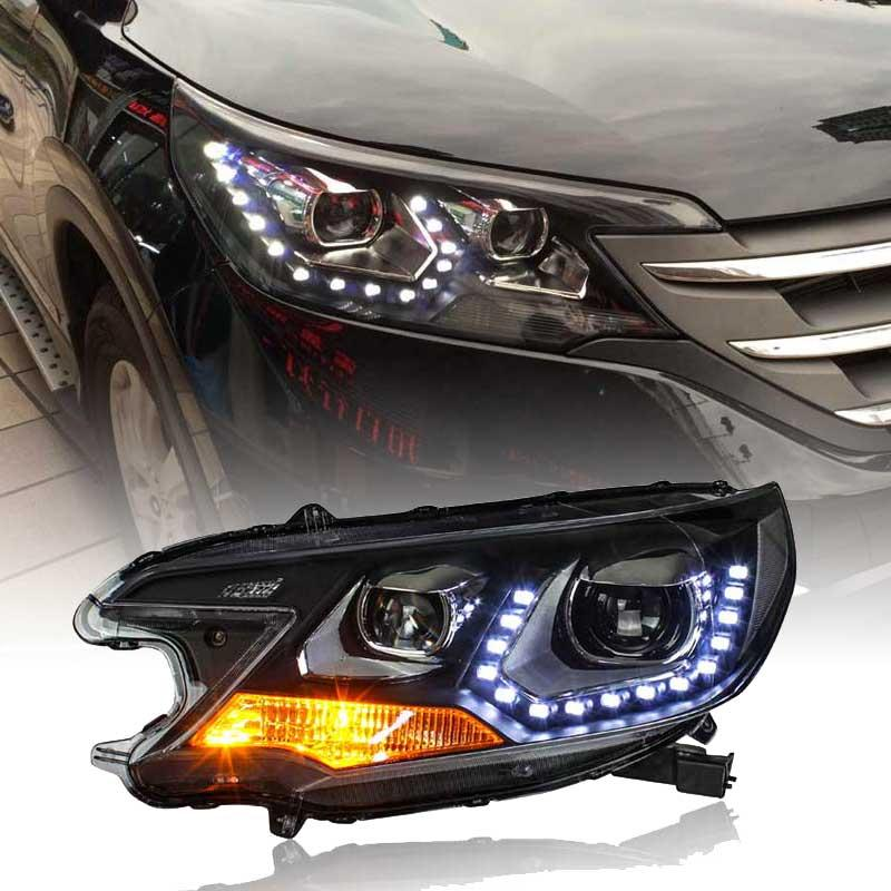 LED-Scheinwerfer für Honda CRV 2012-2014 Jahr Scheinwerfer Nachrüst Montage schwarze Farbe LF