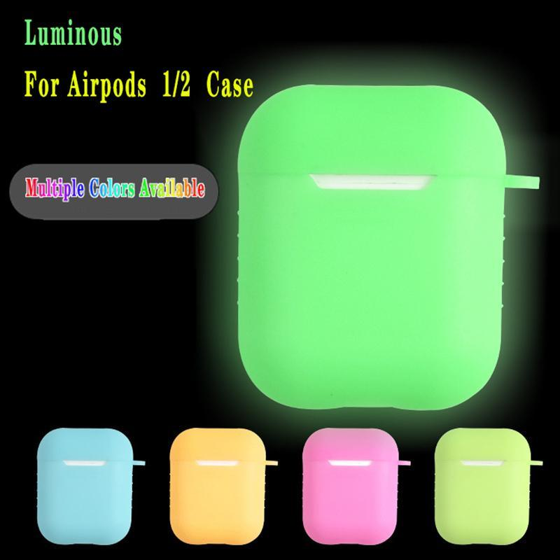 Luminous Protective Case For Airpods Pro Universal Dustproof Drop-proof Bluetooth Headset Protective Case With Hook Case For Airpods Pro