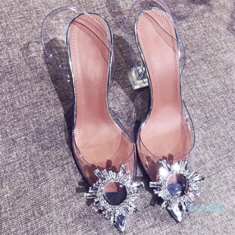 Sexy Escarpin Sandales Chaussures Femme Argent strass chaussures de mariage Talons Chaussures Soirée d'été Talons Hauteur Sandales CT01