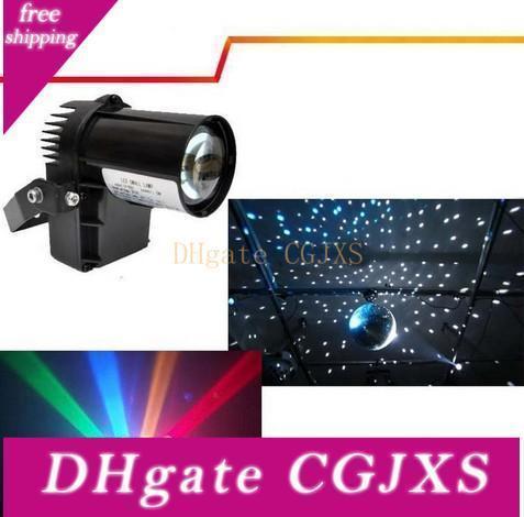 10w RGBW лампа 4in1 Led Pinspot свет / Dmx 512 Управление водить дождя Свет этапа КТВ Dj Club Party Light Decor освещения Black / White Обложка