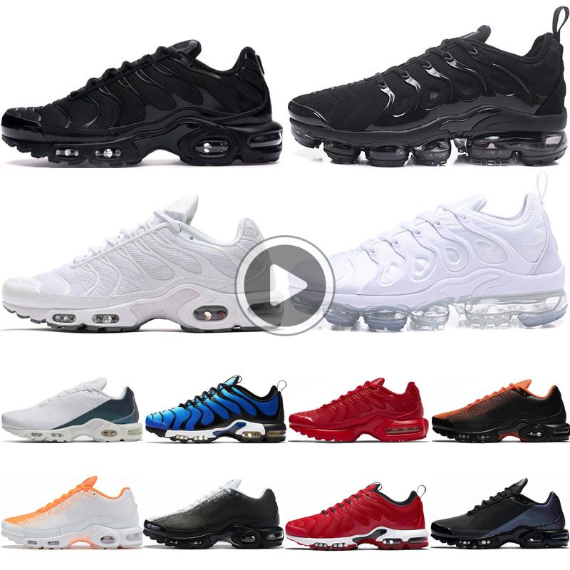 SE Tn men women running shoes Triple Black White University Red tn plus shoes Total Orange Hyper Blue mens trainers 36-46 6A2M