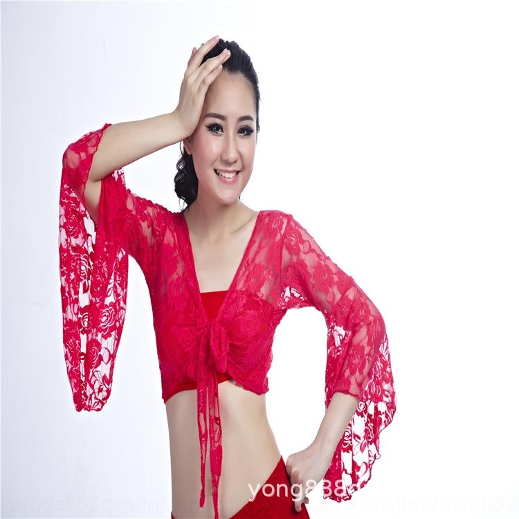 5q5Nx b6QnS 2020 square dance belly dance lace lace butterfly adult top butterfly stage clothing performance