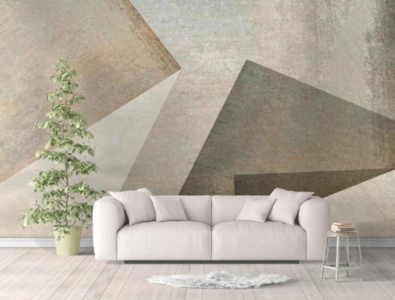 Encargo cualquier tamaño mural del papel pintado 3D estéreo de la pared de fondo geométrica Portapapeles Salón Dormitorio de estilo europeo 3D Decoración