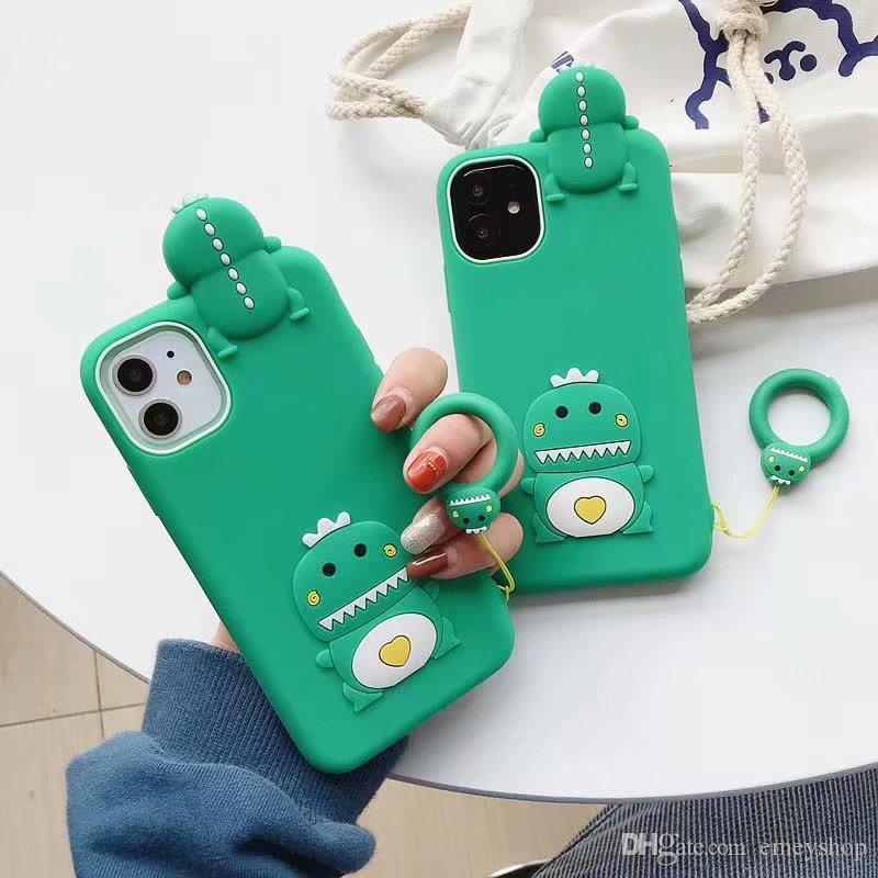Moda 3D caixa do telefone dos desenhos animados para iPhone 11 pro max x xs xr 7 8 Plus SE Carta macio TPU Silicon tampa traseira dos doces Caso Capa