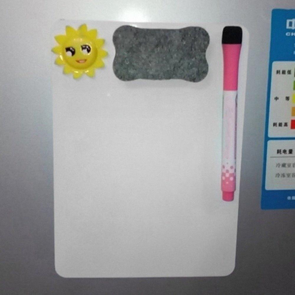 21 * 15 см водонепроницаемых досок Дать совет Магнитного холодильника Совет стираемого сообщения Memo Pad Drawing Home Office xh2H #
