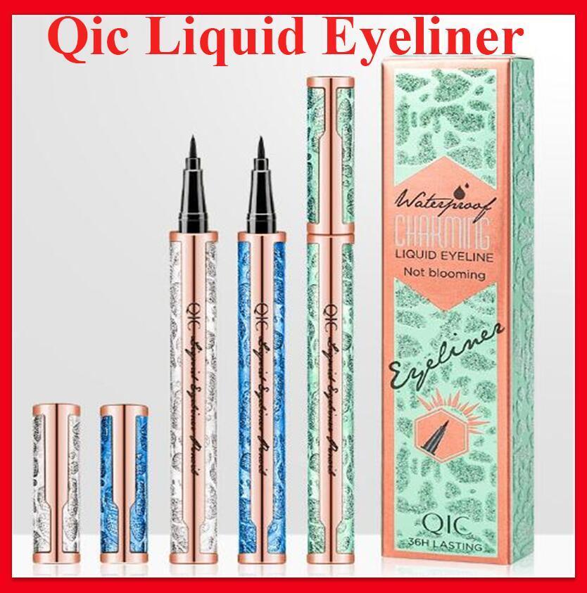 QIC Makeup 36H WaterProof Long-lasting Eyeliner Bright Starry Packaging Natural Smooth Liquid Eyeliner Pen Fast Dry Beauty Eye Eyeliner