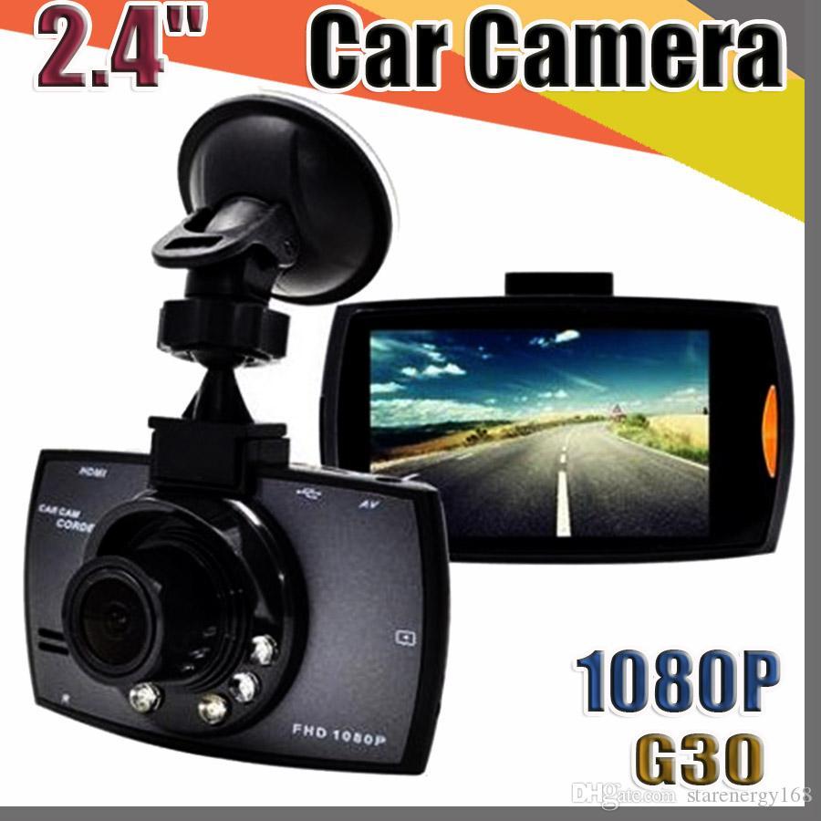 """G30 Car Camera 2.4 """"Full HD 1080P Car DVR مسجل فيديو داش كام 120 درجة زاوية واسعة كشف الحركة للرؤية الليلية G-sensor مع حزمة"""