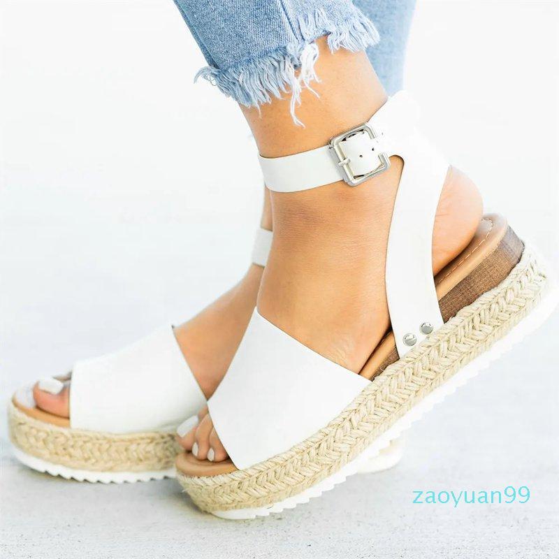 Kadınlar Yüksek Topuklar Sandalet Yaz Ayakkabı 2019 Flop Chaussures Femme Platformu Sandalet Ana Artı boyutu için Sıcak Satış-takozları Ayakkabı
