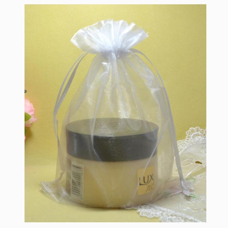 100 piezas 30x40cm bolsas de organza de regalo con lazo de Festival blanca joyería favor de partido bolsas boda de Navidad Caramelo Bolsas Negro