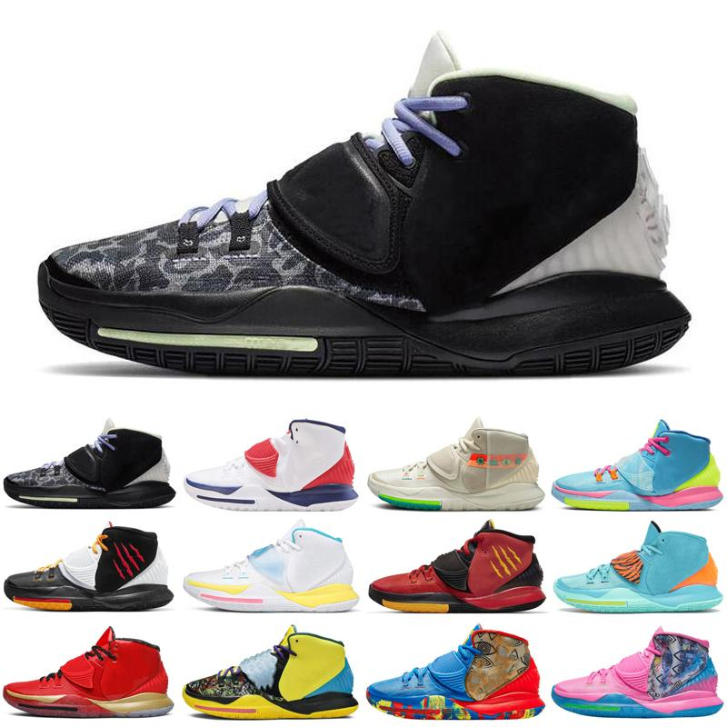 kyrie 6 Asia irving jumpman men baskteball shoes USA Shot Clock N7 pool Neon Graffiti Bruce Lee mens trainers sports sneakers