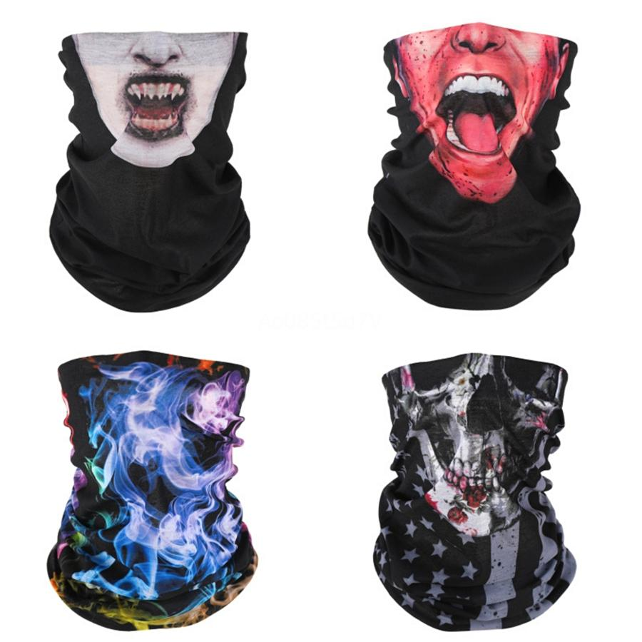 Mode Bandeau 3D Magic Visage Masque crâne écharpe Bandanas Drapeau transparente Masques magie numérique, animal Lion, Tigre, Riding Skull P # 87 Scarfs # 678