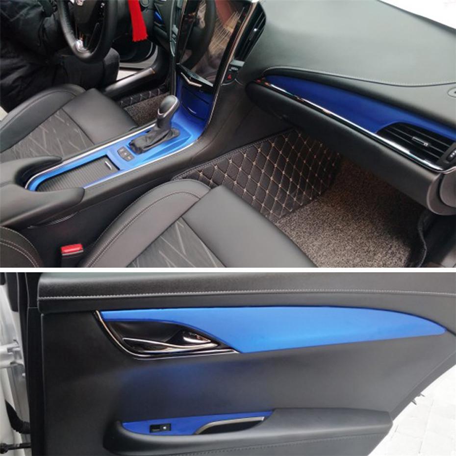 Per adesivi in fibra di carbonio Cadillac ATS ATSL autoadesivo autoadesivi dell'automobile 3D 5D vinile auto e decalcomanie Accessori auto Styling
