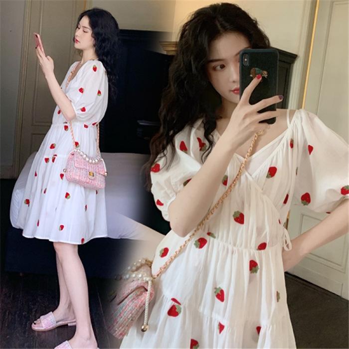 imduB беременных женщин лето юбка костюм из моды 2020 Корейского стиль лета персонализированного Нового платья западного платья типа