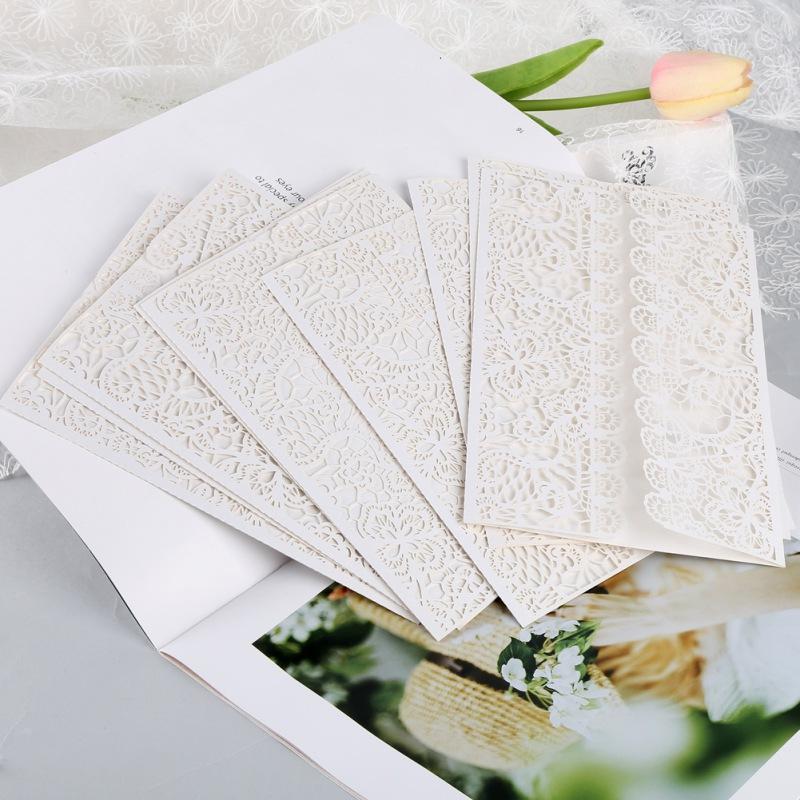 2020 10 PC / sistema vertical del corte del laser de la mariposa Invitaciones Tarjetas kits para la ducha nupcial de la boda de Navidad tarjeta de felicitación del regalo