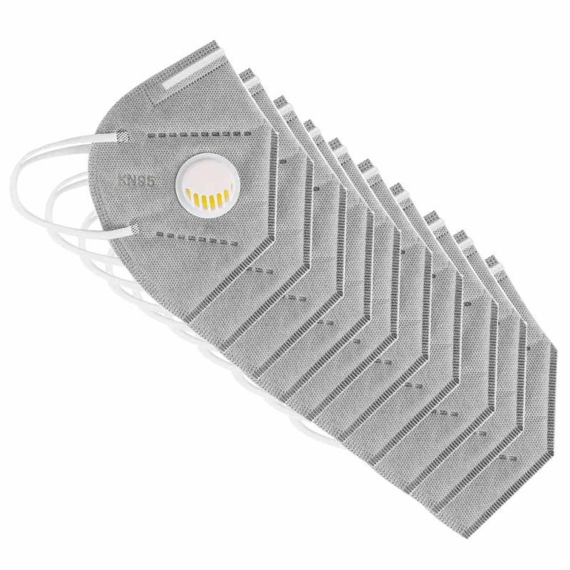 DHL frete grátis! Máscara com válvula cinza e branco máscaras reutilizáveis de embalagem individual máscaras de poeira à prova de poeira para adultos